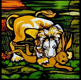 Window 3 Scene 2 - Lion and Rabbit