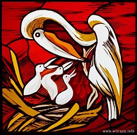 Window 7 Scene 2 - Pelican - Symbol of Christ